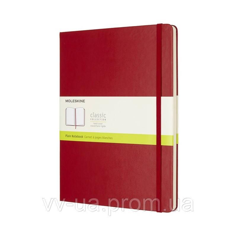 Книга записная Moleskine Classic большая, тверд.обл., красный, нелинованная (QP092F2)