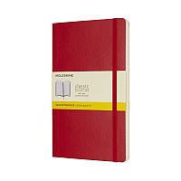 Книга записная Moleskine Classic средняя, мягк.обл., красный, клетка (QP617F2)