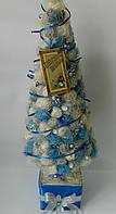 Новорічна ялинка - креатив сезаль біло - голуба 59 см Новогодняя елка - креатив сезаль бело - голубая