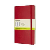 Книга записная Moleskine Classic средняя, мягк.обл., красный, нелинованная (QP618F2)