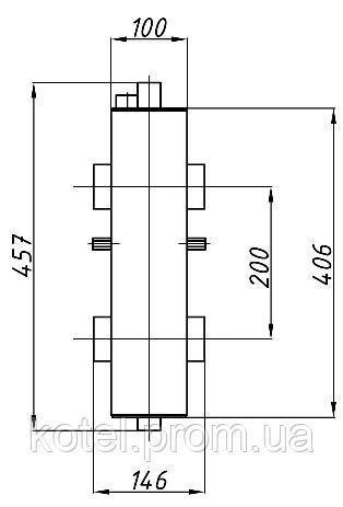 Схема гидроуравнивателя Termojet СК-26 с теплоизоляцией