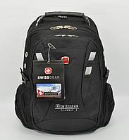 Рюкзак городской SwissGear 9371 черный, выход для USB, наушников