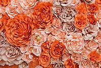 3D фотообои: Бумажные розы