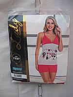 Пижама женская +шорты (ХБ,мультилок) Lady Турция от склада оптом 7 км Одесса, фото 1