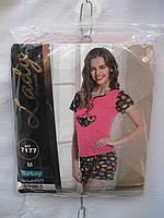 Пижама женская +шорты (ХБ,мультилок) Lady Турция от склада оптом 7 км Одесса