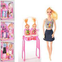 Кукла JF669-46-48-49-50 (48шт) шарнирная 28см,4в(школа,кухня,доктор,качель),в кор-ке,24,5-32-5см