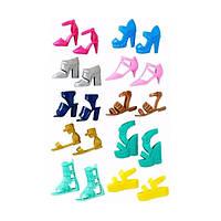 Набор 5 пар обуви для Барби, (в ассорт.), Barbie (FCR91)