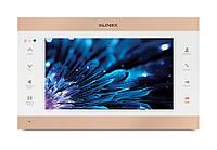 Цветной видеодомофон Slinex SL-10IPT белый + золото, фото 1