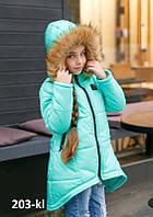 Куртка зимняя на синтепоне для девочки