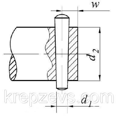 Способ установки штифтаГОСТ 3129-70