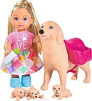Кукольный набор Еви: Няня для щенков с аксессуарами, Evi LOVE (5733072)