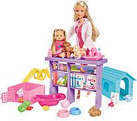 Кукольный набор Штеффи и Еви: Ветеринарная клиника, Steffi LOVE (5733040)