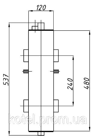 Схема гидроуравнивателя Termojet СК-27 с теплоизоляцией