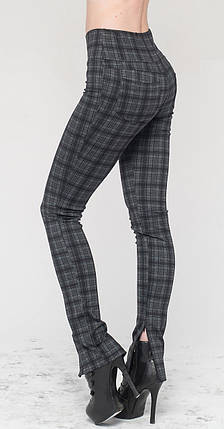 Леггинсы-штаны под каблук серая клетка, фото 2
