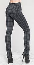 Леггинсы-штаны под каблук серая клетка, фото 3
