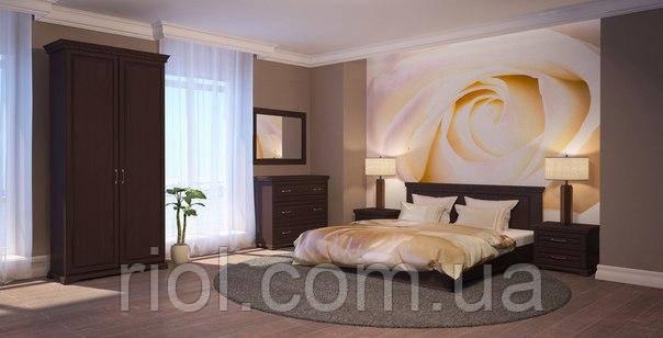 Кровать из массива дуба Элит с подъемным механизмом двуспальная