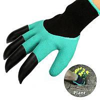 Перчатки для сада с когтями 1001975, перчатки для работы в саду и огороде, перчатки для огорода, перчатки для работы в огороде, перчатки с когтями для