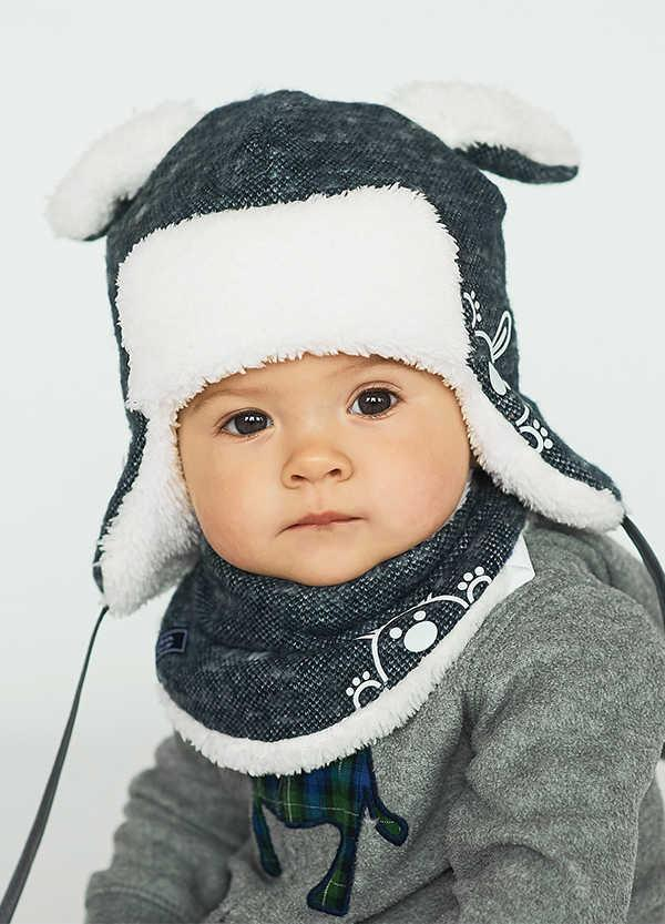 Детская зимняя шапка (набор) для малышей МИЛАН оптом размер 42-44-46