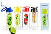 Бутылка для напитков My Bottle 6009-700 с колбой под фрукты, цвета в ассортименте