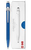 Ручка шариковая Caran d'Ache 849 Metal-X, синяя