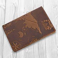 """Янтарная дизайнерская обложка на паспорт ручной работы с художественным тиснением, коллекция """"7 wonders of the world"""""""