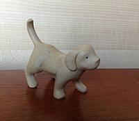 Деревянная статуэтка собачки 10 см