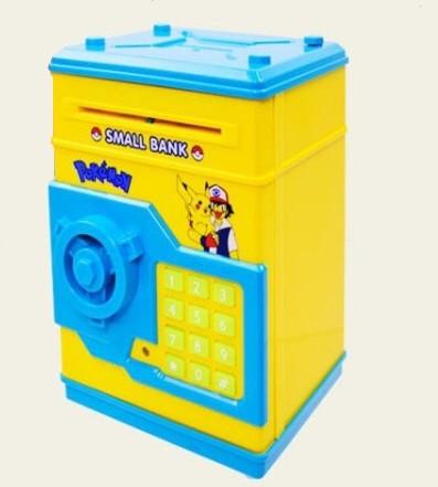 Желтая копилка сейф Покемон Pokemon