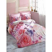 3D комплект постельного белья евро размера Cotton Box ROSELOVE PEMBE CB02