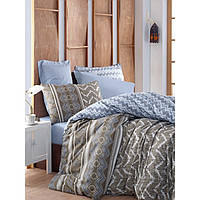 Комплект постельного белья евро размера Cotton Box JOY MAVI CB56