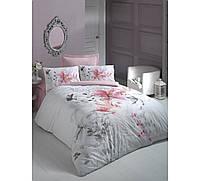 Хлопковый комплект постельного белья ЕВРО размера Cotton Box IRIS PEMBE CB03