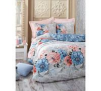 Хлопковый комплект постельного белья ЕВРО размера Cotton Box KARLA MAVI CB03