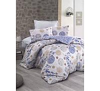 Хлопковый комплект постельного белья ЕВРО размера Cotton Box LOLA MAVI CB03