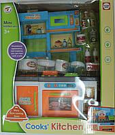 """Мебель """"Кухня"""" для куклы,дверцы открываются,посуда,продукты,в коробке"""