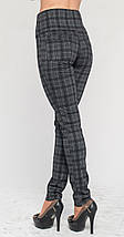 Леггинсы-штаны с утяжкой серая клетка, фото 2