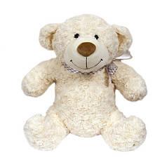 Мягкая игрушка - МЕДВЕДЬ (белый, с бантом, 25 см) 2503GMU