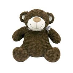 Мягкая игрушка - МЕДВЕДЬ (коричневый, с бантом, 33 см) 3302GMU