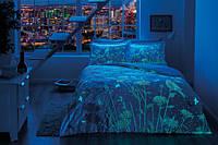 Светящееся постельное белье сатин евро TAC TALINA V01 KIRMIZI SV17