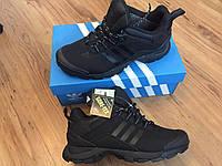 Зимние Кроссовки, ботинки  Adidas gore-tex-Triple Black термо