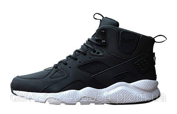 Мужские кроссовки Nike Huarache High Black White