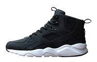 Мужские кроссовки Nike Huarache High Black White, фото 1