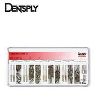 Unimetric 0.8mm(Юниметрик) - набор титановых штифтов(145шт.+11инстр.),Dentsply Maillefer