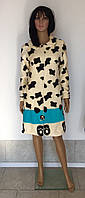 Женский молодежный махровый халат на молнии 44-50 р Панда, женские махровые халаты оптом от производителя