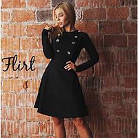Женское платье до колен клеш с пуговками, фото 1