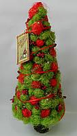 Новорічна ялинка - креатив сезаль зелено - червона 40 см Новогодняя елка - креатив сезаль зелено - красная