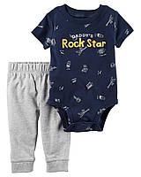 """Набор одежды для мальчика боди и штаны Carters """"Рок стар"""" 12М"""