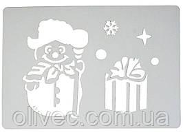 Трафарет Снеговика 43,5х28,5 см.