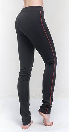 Лосины для бега женские, черный с красным, фото 2