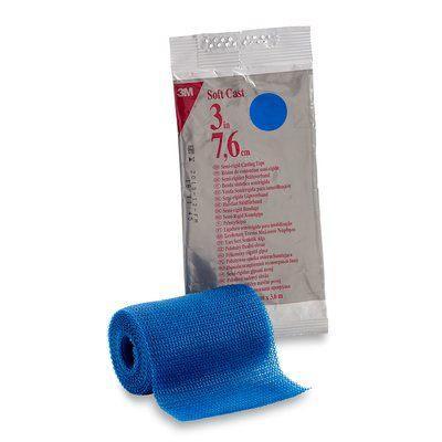 Полужесткий полимерный бинт 3M™ Soft Cast™ (7,5 см х 3,6 м) - белый, синий, фиолетовый