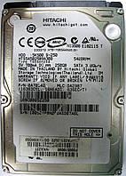 HDD 250GB 5400 SATA2 2.5 Hitachi HTS545025B9A300 неисправный ASD07A6L, фото 1