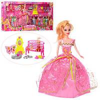 Кукла с нарядом 969-B (12шт) дочка 10см,платья,косметика,аксессуары,в кор-ке,68-33-6см